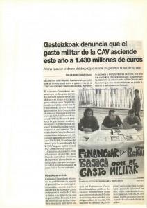 Gasto militar 2003 (con Berri Otxoak)