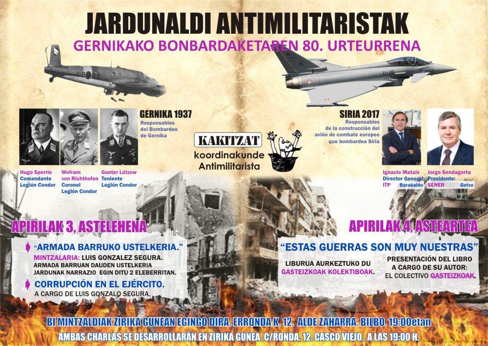 Jardunaldi Antimilitaristak Bilbo 2017
